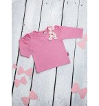 Rožiniai marškinėliai ilgomis rankovėmis