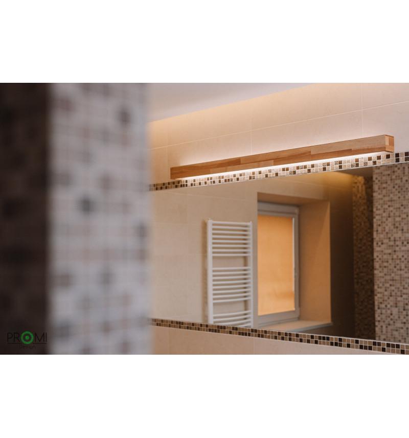 Didelis modernus medinis sieninis šviestuvas