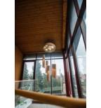 Unikalus medinis pakabinamas šviestuvas
