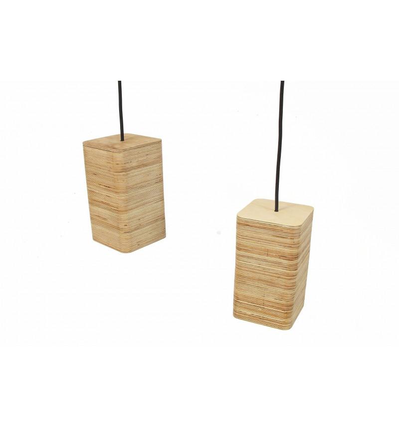 Medinių pakabinamų šviestuvų rinkinys iš 2  dalių