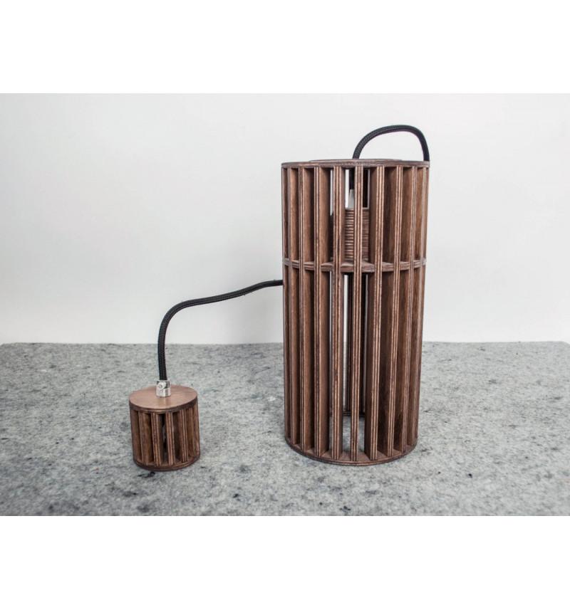 Pakabinamas medinis lubinis šviestuvas