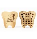 Medinė dantukų dežutė