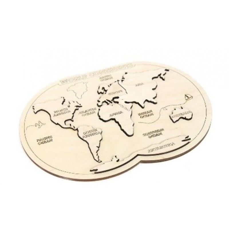 """Medinė puzle """"Žemėlapis"""""""