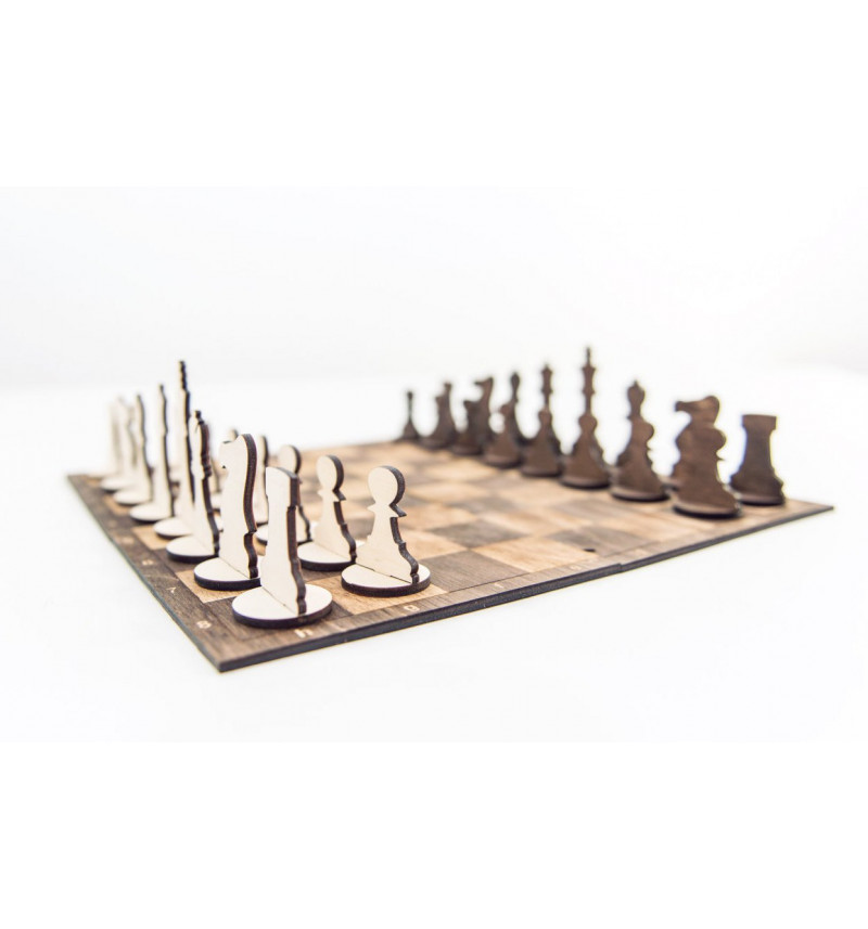 Šachmatai šaškės - stalo žaidimas 2 In 1